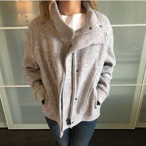 bannana republic sweater coat jacket grey size s